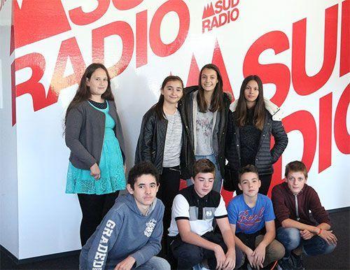 Les jeunes reporters à SUD RADIO